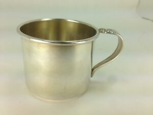 Vintage Prelude Pattern By International Silver Sterling Silver Baby Cup