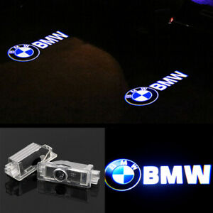 2x Laser Led Door For Bmw Projector Courtesy Puddle Ghost Shadow Lights 3d Logo