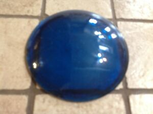 Early Cowl Blue Green 3 5 8 Fender Light Lens Glass Auto Vintage Truck