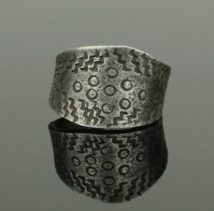 Ancient Viking Silver Ring Circa 9th 10th Century 027