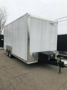 New 8 5 X 20 14 000 Lb Heavy Drop Deck Equipment Enclosed Trailer