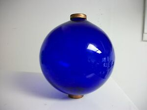 6 5 Blue Glass Ball For Weathervanes Or Lightening Rods