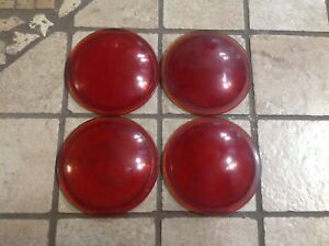 Set 4 Amber Light Lens Glass Auto Vintage Truck Nos 2 15 16 Car Bus Van Old