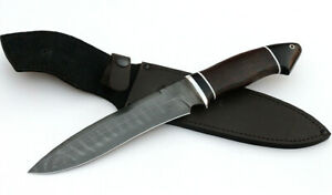 Custom tactical survival Damascus hand-forged knife