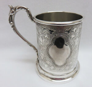 Antique Victorian 1880 S Silver Plated Baby Cup No Mono Excellent