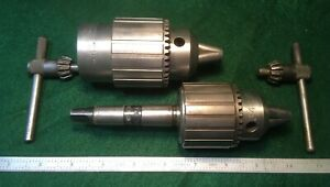 Jacobs 58b Headstock Spindle Lathe Chuck 1 1 2 X 8 Tpi No 34 Tailstock 2 Mt