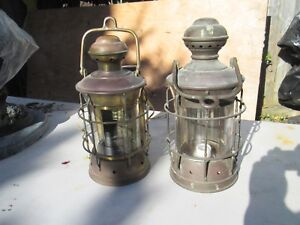 Pair Of Vintage Fo C Sle Ship Lanterns Focsle Nautical Ship Lanterns