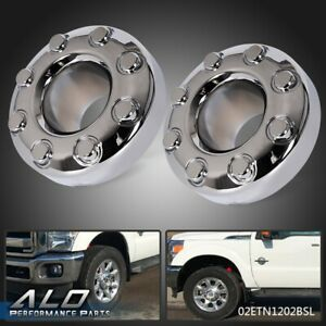2pcs 2005 2018 Ford F 350 F350 Dually Front 4x4 Open Chrome Wheel Center Hub Cap