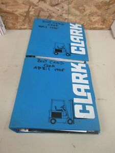 Clark Forklifts Training boot Camp School Manual Guide Binders