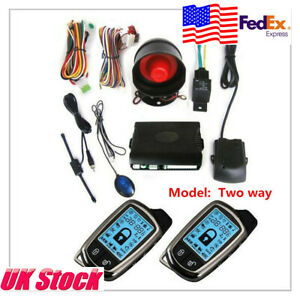 Usa 2 Way Car Alarm Security System Lcd Super Long Distance Control Anti Theft