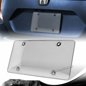 1pcs Tinted Clear Smoke Protector License Plate Frame Shield Cover Front