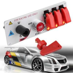 Led Toggle Ignition Switch Engine Start Push Button For Racing Car Dc12v Panel