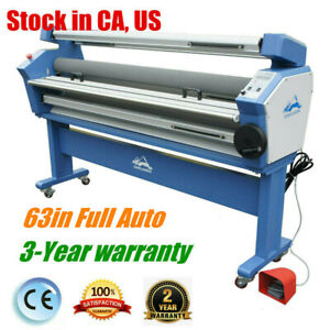 Usa 63 Full auto Heat Assisted Low Temp Wide Format Cold Laminator Machine