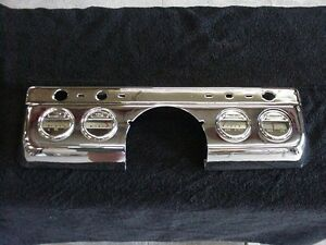 1949 Mercury Chrome Dash Panel And Gauges Nice Chrome Oem Gauges No Reserve