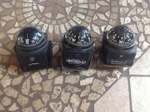 Lot 3 Dashboard Compass Airguide Vintage Auto Truck Van Car Dash Mount