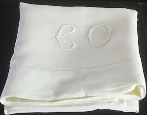 Vintage Linen Pillowcase Co Monogram Uu488