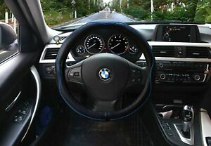 Valleycomfy Steering Wheel Covers Universal 15 Inch With Genuine Leather
