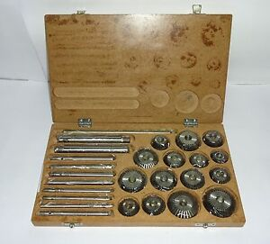 Valve Seat Face Cutter Set 15 Pcs Set For Vintage Cars Bikes Brand New