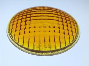 Vintage Guide D 68 Amber Turn Signal Lamp Glass Lens Chevy Gmc Truck Light