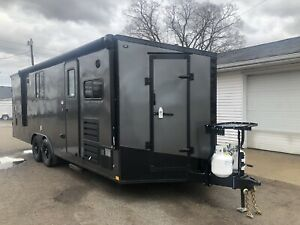 New 2019 8 5 X 24 Enclosed Stealth Style Enclosed Trailer Toy Hauler Loaded