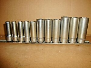 Snap On Tools Sfsm 3 8 Drive 11 Piece Metric Deep Socket Set 9 19mm