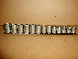 Snap On Tools Fsm 3 8 Drive 13 Piece Metric Shallow Socket Set 7 19mm