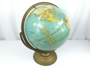 Vintage Cram S Universal 12 World Earth Globe No 3 On Stand From 1940s