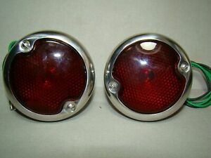 Round Stainless Steel Ford Truck Tail Lights 53 Ford Lights 54 55 Ford 40 50 47