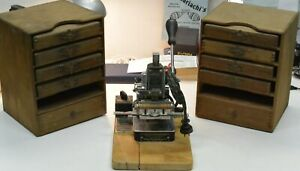 Vintage Kingsley Gold Stamping Machine Hot Foil Made In Hollywood California Usa