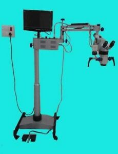Surgical Microscope Five Step lcd camera motorized Labgo