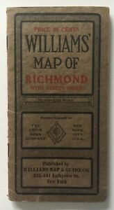 1919 Williams Map Of Richmond Staten Island Folding Pocket With Street Index