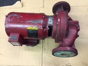 Bell Gossett 1 In Line Pipe Flange Booster Pump 60 Gpm 5 Hp 3600 Rpm 115ft