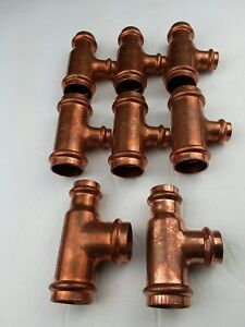 8 viega 1 Propress Copper Reducer Tees Lf