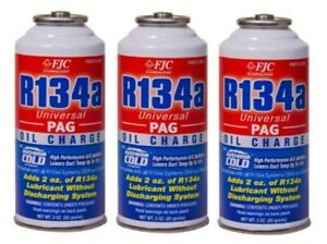 Pack Of 3 Universal Pag Oil Charge Extreme Cold High Performance Additive 3oz