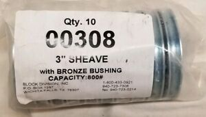 10 3 Sheave With Bronze Bushing 1 2 Hole 800 Lb Cap Block Division 00308