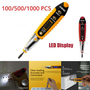 Ac dc Non contact Lcd Electric Test Pen Voltage Digital Detector Tester 12 250v