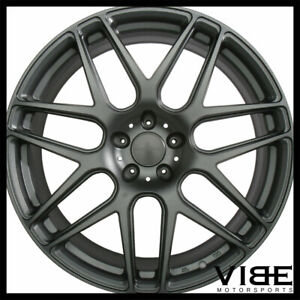 20 Ace Mesh 7 Grey Concave Wheels Rims Fits Ford Mustang Shelby Gt Gt500