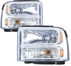 For 2005 2006 2007 Ford F 150 F 250 Headlight Headlamp Pair Set