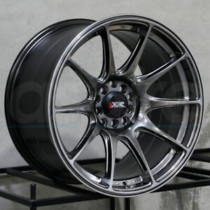 17x7 5 Xxr 527 4x100 4x114 3 40 Chromium Black Wheels Rims Set 4