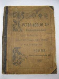 1880s Peter Koelbl Art Work Fancy Wrought Iron Catalog Early Lighting Clocks Etc