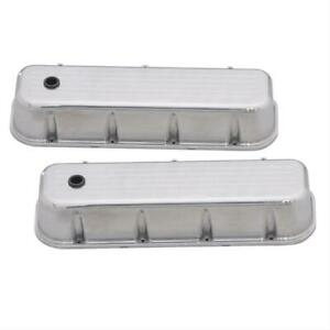 Summit G3317 Valve Covers Tall Cast Aluminum Polished Big Block Chevy Pair