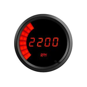 Summit Racing Tachometer Led 0 9900 Rpm 3 3 8 In Digital Electrical Each