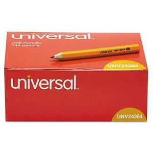 Universal Golf pew Pencil Hb Yellow Barrel Kids School Economy 2pkx144 288ct