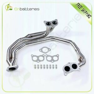 Stainless Steel 4 2 1 Header For 98 04 Impreza 2 5 Ej25 4cyl Na Exhaust manifold