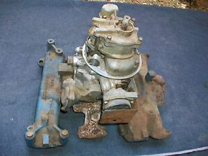 1950 s Ford Y Block Intake tea Pot Carb 4 bbl 292 312 Engines Ecz 9425 a Oem