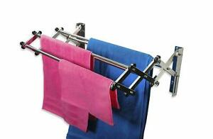 Large Clothes Drying Stand Folding Rack Foldable Indoor Oversize Dryer Metal 45l