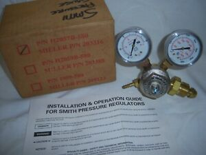 Smith Argon Gas Pressure Regulator H2057b 580 3000psi Dual Gauge Made In Usa Nib