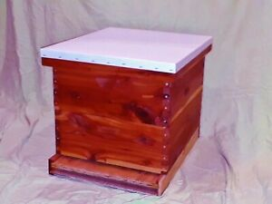 Fully Assembled Langstroth Beehive With 2 Medium Boxes Eastern Red Cedar Apiary