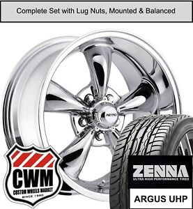 17 Inch Wheels And Tires For Chevy Corvette C3 Chrome 17x8 Retro Rims Fit 68 82