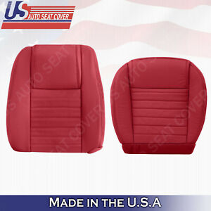 2005 2006 2007 2008 2009 Ford Mustang Driver Set Bottom Top Leather Cover Red